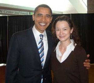 President Barack Obama and Tammy Soong in Reno