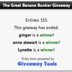 The Banana Bunker Winners!