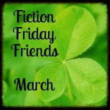 Friday Fiction Friends Logo for March -- a shamrock