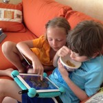 Kids on iBallz iPad