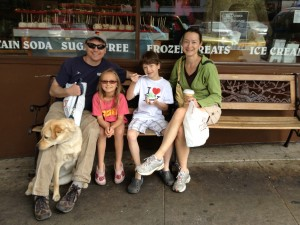 Family at the Sweet Shop, Ashland, OR