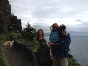 family on Oregon Coast -- Nehalem Bay