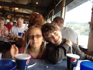 Kids at Mo's in Lincoln City, Oregon