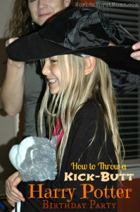 How to Throw a Kick Butt Harry Potter Birthday Party -- Little girl in sorting hat