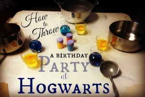 How to throw a birthday party at Hogwarts