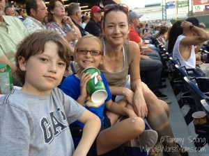 Family at Reno Aces game