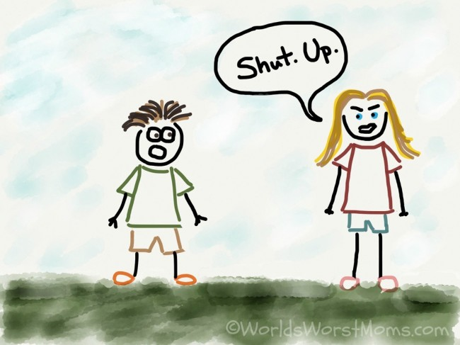 F-ing Shut Up Cartoon