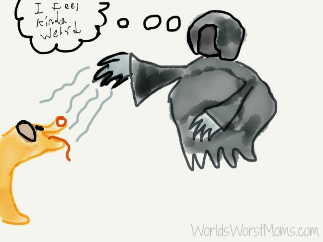 cartoon of Jasper and the Dementor