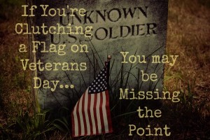 If You're Clutching a Flag on Veterans Day, You may be Missing the Point