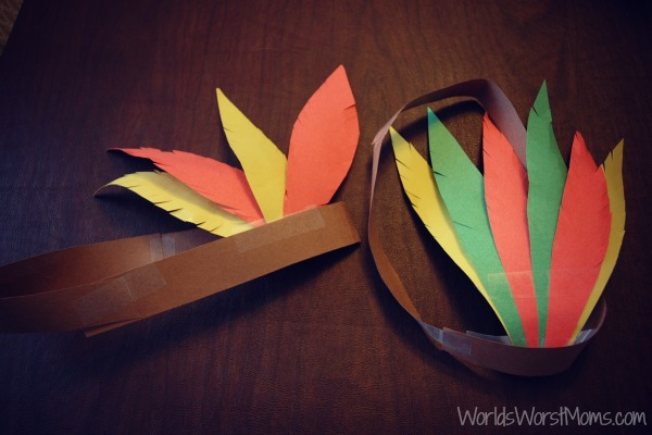 Native American Thanksgiving Paper Headband