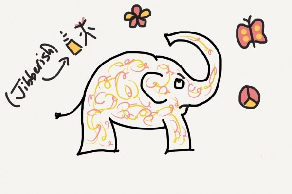 "Pink and Yellow Elephant Tattoo with too many tattoo choices -- ""What to think about before getting a tattoo"""
