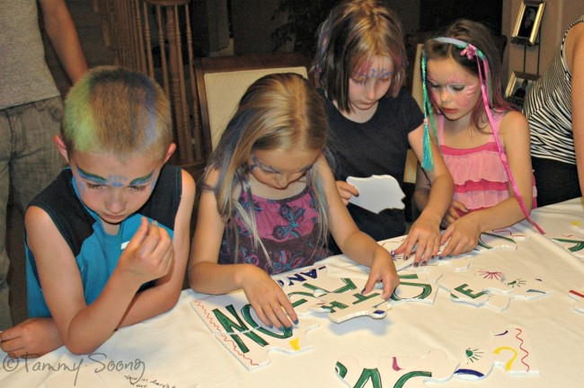 Giant Puzzle for Scavenger Hunt Birthday Party